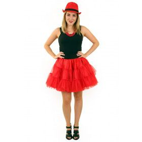 Rock And Roll Petticoat 3 Lagen Rood Vrouw