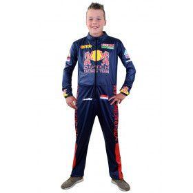 Razendsnelle Formule 1 Race Overall Max Jongen Kostuum