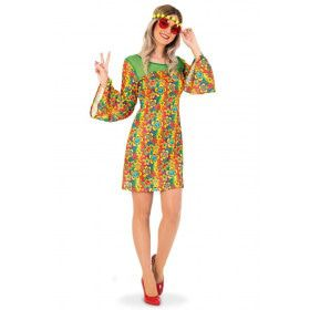 Hippie Eeuwig Durende Vredige Zomers Jaren 60 Vrouw Kostuum