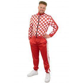 Rood Wit Trainingspak Brabant Man Kostuum