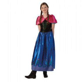 Prinses Anna Frozen Disney Tekenfilm Tiener Meisje Kostuum