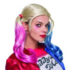 Roze Blauwe Pruik Harley Quinn