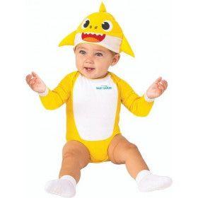 Gele Echte Baby Shark Tututututu Kind Kostuum