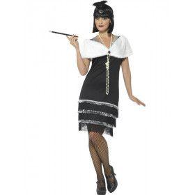Jazzy Big Band Flapper Vrouw Kostuum