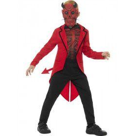 Vuurrode Sarrende Satan Jongen Kostuum