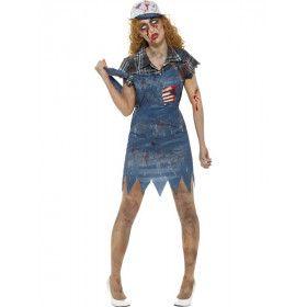 Hilda Hillbilly Zombie Amerika Vrouw Kostuum