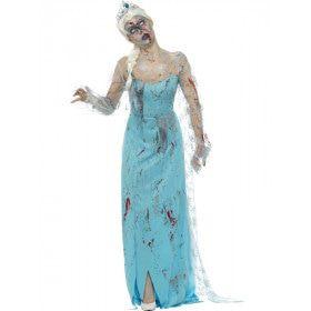 Te Lang Op De Noordpool Zombie IJskoningin Vrouw Kostuum