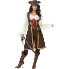 Dolle Deerne Kolkende Zee Piraat Vrouw Kostuum