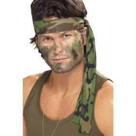 Camouflage Hoofdband Jungle Commando 150 X 4 Centimeter