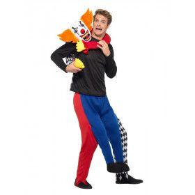 Killer Horror Clown Op Je Nek Kostuum