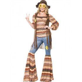 Laten We Gezellig Samen Leven Hippie Vrouw Kostuum