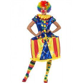 Grappige Circus Tent Clown Vrouw Kostuum