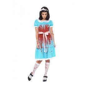 Bloody Mary Schuldig Schoolmeisje Vrouw Kostuum