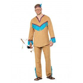 Mississippi Indiaan Wilde Mustang Man Kostuum