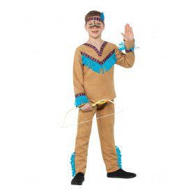 Mississippi Indiaan Wilde Mustang Jongen Kostuum