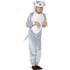 Brave Grijze Hond Kind Kostuum