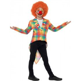 Pastel Schotse Ruit Circus Clown Kind Kind