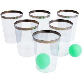 Party Pong Spel Gin Editie 12 Glazen En 2 Ballen