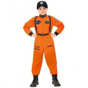 Amerikaanse Astronaut Oranje Kind Kostuum Jongen