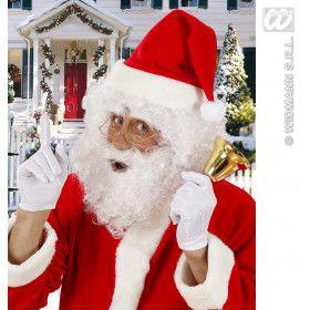 Pruik Kerstman Met Baard En Wenkbrauwen