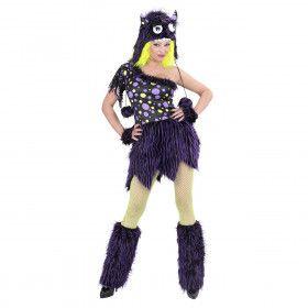 Luxe Monster Meisje Ms Comic Strip Vrouw Kostuum