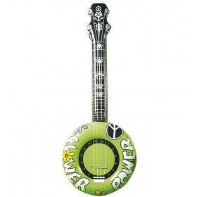 Opblaasbare Banjo 100 Centimeter Groen Flower Power