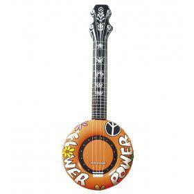 Opblaasbare Banjo 100 Centimeter Oranje Flower Power