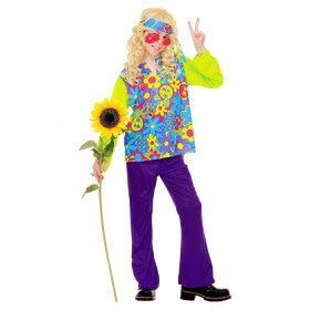 Hippie Jongen Power Of Flower Kostuum