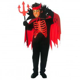 Scary Devil Horror Saltimbanco Kostuum Jongen