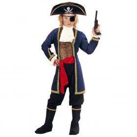Piraat 7-Zeeen, Jongen Kapitein Eenoog Kostuum