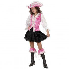 Kleurrijke Koninklijke Pirate, Roze Kostuum Vrouw