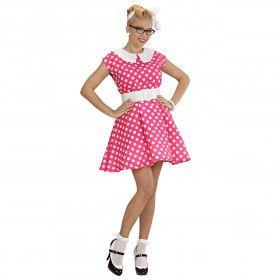 Jurk 50s Roze Ms Diner Kostuum Vrouw