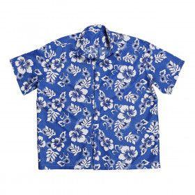 Hawaii Shirt Blauw Man