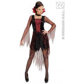 Vampier Spinnenweb Lacing Devil Kostuum Vrouw