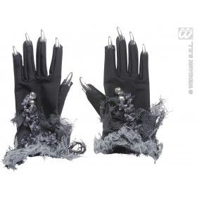 Handschoenen Met Zilveren Nagels En Belletjes