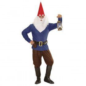 Tuin Kabouter Blauw Man Kostuum