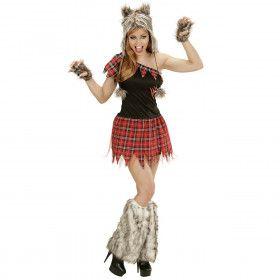 Enge Sexy Wolf Dame Vrouw Kostuum