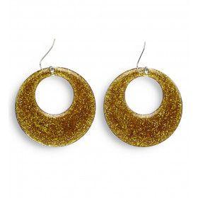 70s-80s Gouden Glitter Oorbellen