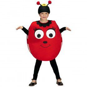 Smiley Lieveheersbeestje Grote Ogen Kind Kostuum