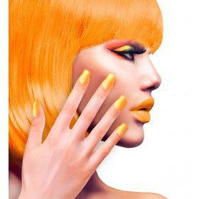 Nagels Airbrush Neon Oranje 80s Lady