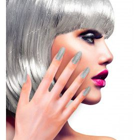 Nagels Pearly Iriserend Glitter Zilver
