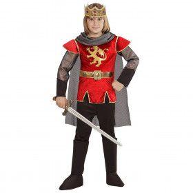 King Arthur English Roze Rood Jongen Kostuum