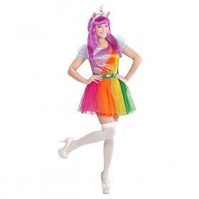 Eenhoorn Regenboog Vrouw Kostuum