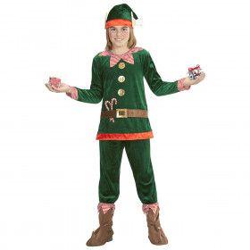 Elfje Van De Kerstman Kind Kostuum