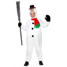 Kouwelijke Sneeuwpop Kerstvakantie Kind Kostuum