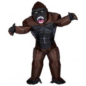 Opblaasbaar Machtige Rwanda Gorilla Kostuum