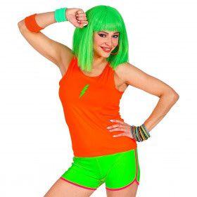 Sportieve Hotpants Neon Groen Vrouw