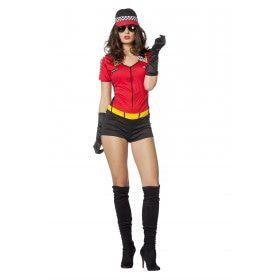 Pitspoes Hot Wheels Vrouw Kostuum