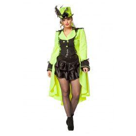 Funky Luxe Jas Neon Geel Vrouw