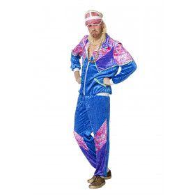 Jogging 80s Pink Trainer Man Kostuum